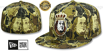 New Era 'BEN FRANKLIN' Desert Storm Fitted Hat