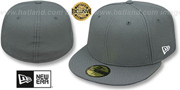 New Era DIAMOND TECH 59FIFTY-BLANK Charcoal Fitted Hat