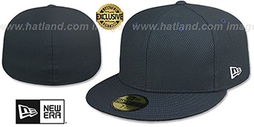 New Era DIAMOND TECH 59FIFTY-BLANK Dark Navy Fitted Hat