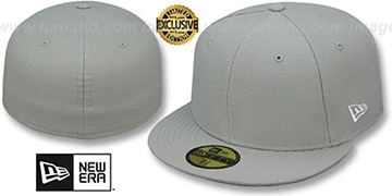 New Era DIAMOND TECH 59FIFTY-BLANK Light Grey Fitted Hat