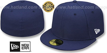 New Era DIAMOND TECH 59FIFTY-BLANK Navy Fitted Hat