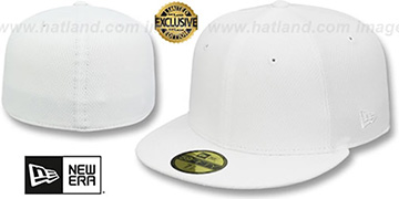 New Era DIAMOND TECH 59FIFTY-BLANK White Fitted Hat