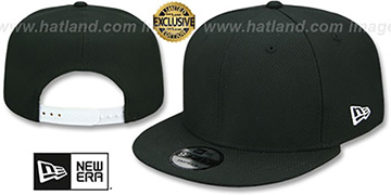 New Era 'DIAMOND TECH BLANK SNAPBACK' Black Adjustable Hat