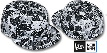 New Era 'DICE' Fitted Hat white-black-grey