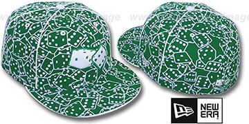 New Era FLOCKED DICE Kelly-White Fitted Hat