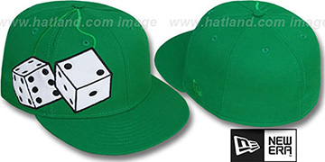 New Era 'FUZZY DICE' Green-White Fitted Hat