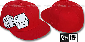 New Era 'FUZZY DICE' Red-White Fitted Hat
