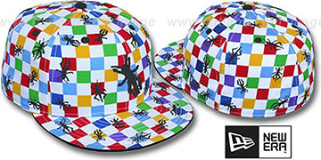 New Era 'GRASSHOPPER CHECKERS' White-Multi Fitted Hat