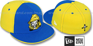 New Era 'HOODED SKULL' Royal-Yellow Fitted Hat