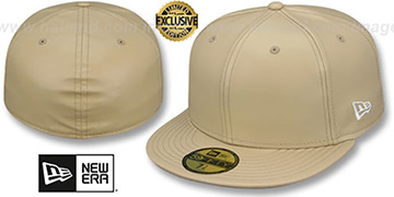 New Era 'LEATHER BLANK' Tan Fitted Hat