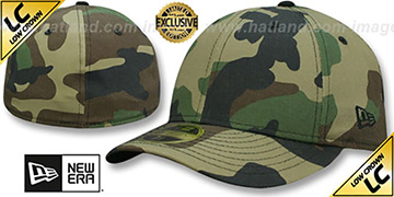 New Era 'LOW-CROWN 59FIFTY-BLANK' Army Camo Fitted Hat