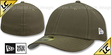 New Era 'LOW-CROWN 59FIFTY-BLANK' Brown Fitted Hat