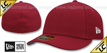 New Era LOW-CROWN 59FIFTY-BLANK Burgundy Fitted Hat