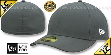 New Era LOW-CROWN 59FIFTY-BLANK Charcoal Fitted Hat