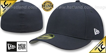 New Era 'LOW-CROWN 59FIFTY-BLANK' Dark Navy Fitted Hat