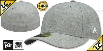 New Era LOW-CROWN 59FIFTY-BLANK Heather Light Grey Fitted Hat