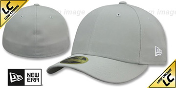 New Era 'LOW-CROWN 59FIFTY-BLANK' Light Grey Fitted Hat