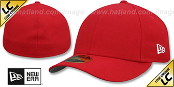 New Era LOW-CROWN 59FIFTY-BLANK Red Fitted Hat