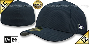 New Era 'LOW-CROWN DIAMOND TECH 59FIFTY-BLANK' Dark Navy Fitted Hat