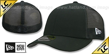 New Era LOW-CROWN MESH-BACK 59FIFTY-BLANK Black-Black Fitted Hat