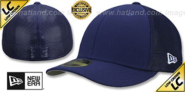 New Era 'LOW-CROWN MESH-BACK 59FIFTY-BLANK' Navy-Navy Fitted Hat