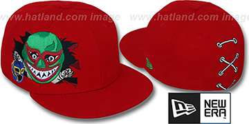 New Era 'LUCHADOR MASX' Red Fitted Hat