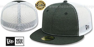New Era MESH-BACK 59FIFTY-BLANK Black Shadow Tech-White Fitted Hat