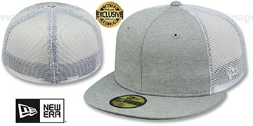 New Era MESH-BACK 59FIFTY-BLANK Grey Shadow Tech-White Fitted Hat