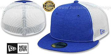 New Era MESH-BACK 59FIFTY-BLANK Royal Shadow Tech-White Fitted Hat