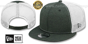 New Era MESH-BACK BLANK SNAPBACK Black Shadow Tech-White Adjustable Hat