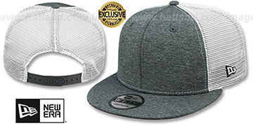 New Era MESH-BACK BLANK SNAPBACK Grey Shadow Tech-White Adjustable Hat
