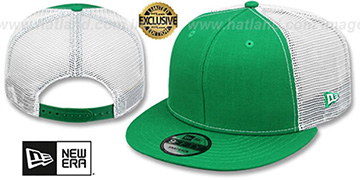 New Era 'MESH-BACK BLANK SNAPBACK' Kelly-White Adjustable Hat