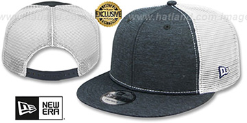 New Era 'MESH-BACK BLANK SNAPBACK' Navy Shadow Tech-White Adjustable Hat