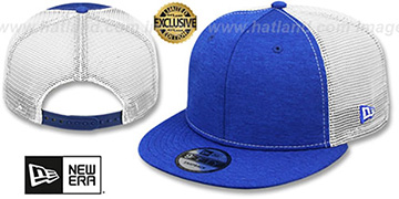 New Era 'MESH-BACK BLANK SNAPBACK' Royal Shadow Tech-White Adjustable Hat