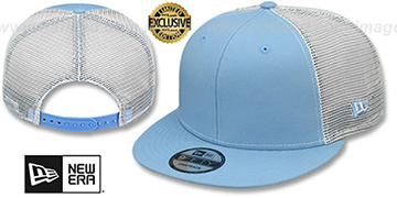 New Era 'MESH-BACK BLANK SNAPBACK' Sky-White Adjustable Hat