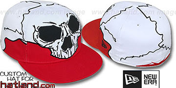 New Era 'MR SOCKETS' Red-White Fitted Hat