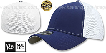 New Era NEO-MESH 39THIRTY-BLANK Navy-White Flex Fitted Hat