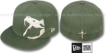 New Era 'RATTLER' Olive-Bone Fitted Hat