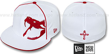 New Era 'RATTLER PIPING' White-Red Fitted Hat