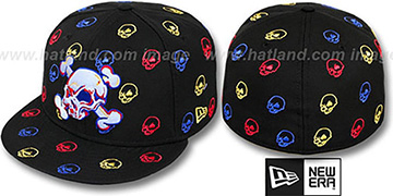 New Era 'S.K.A.R. SKULLS' Black-Multi Fitted Hat