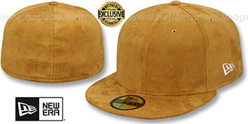New Era SUEDE 59FIFTY-BLANK Panama Tan Fitted Hat