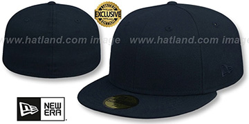 New Era TONAL 59FIFTY-BLANK Dark Navy Fitted Hat