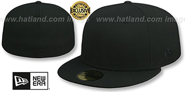 New Era 'TONAL 59FIFTY-BLANK' Solid Black Fitted Hat