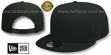 New Era TONAL BLANK SNAPBACK Black Adjustable Hat