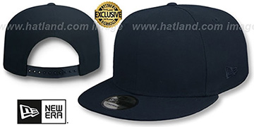 New Era TONAL BLANK SNAPBACK Dark Navy Adjustable Hat