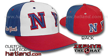 New York PINWHEEL White-Royal-Red Fitted Hat
