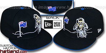 New Zealand MOONMAN Black Fitted Hat by New Era