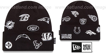 NFL AFC TOTAL LOGO Black Knit Beanie Hat by New Era