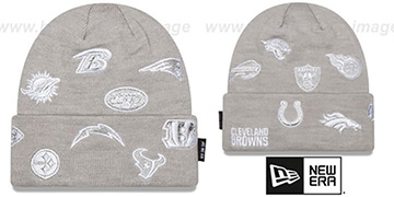 NFL AFC TOTAL LOGO Grey Knit Beanie Hat by New Era