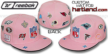 NFL NFC ALL-OVER Pink Fitted Hat by Reebok